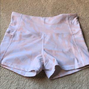 Athleta pink pattered biker shorts